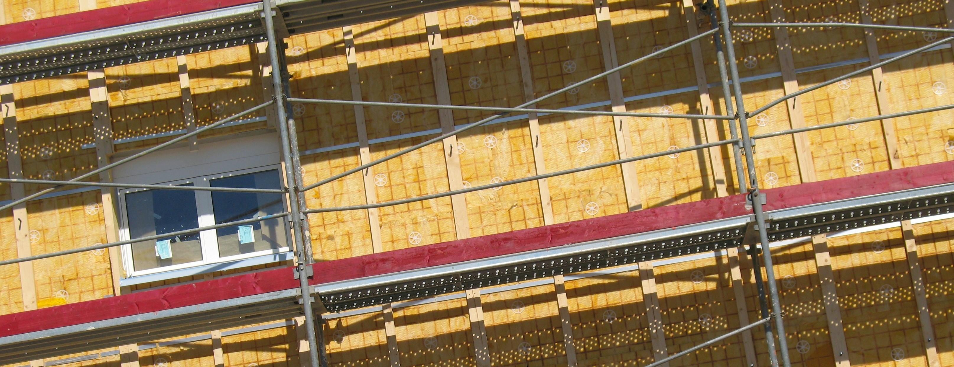 Wohnungsbau - Fassade - Dämmung
